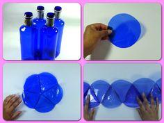 Lámpara con botellas de plástico   Manualidades