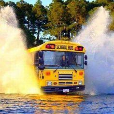 Great School Bus Photos, Part 2 School Bus Safety, School Bus Driver, Driving School, School Buses, School Days, School Stuff, Bus Humor, Flooded Roads, Energy Bus