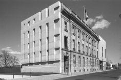 Swiss Embassy Berlin, Germany by Diener+Diener, Concrete relief by Helmut Federle