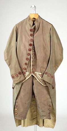 Suit 1775, Italian, Made of silk