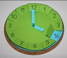 : Handcrafted clock with flaps, math, time, tinker - schule - Learning Activities, Kids Learning, Activities For Kids, Babysitting Activities, Indoor Activities, Teaching Time, Teaching Math, Maths, Math Math