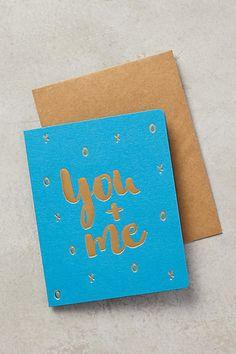 Bespoke Letterpress You + Me Card