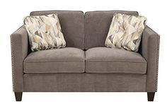 Emerald Home Furnishings U4286M0123 Focus Loveseat with 2 Accent Pillows Standard Dk Brown Kd Wood Legs * Find out more about the great product at the image link.
