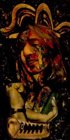 "Saatchi Art Artist CARMEN LUNA; Collage, ""110-COLLAGES Pintados. Antonio Carmona."" #art"
