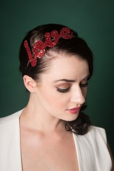 Image of Large Glitter Love Headbands