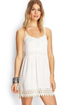Crochet Peasant Dress | FOREVER21 #SummerForever