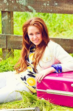 """Miley Cyrus on the set of """"Hannah Montana - The Movie"""""""