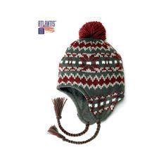 Atlantis Caps Bobhat Tassel Peru Peruvian Beanie Hat - Charcoal (€14) found  on Polyvore 212988e74e5