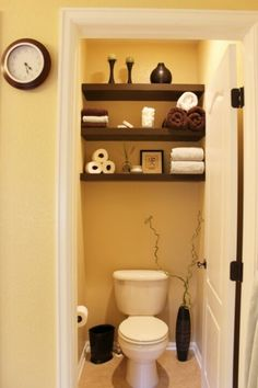 Shelving in a small space Great for or downstairs bathroom!!