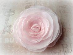 Wedding Hair Flower Powder Pink Hair Flower by RainwaterStudios, $20.00