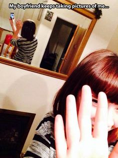 Never take selfies near a mirror…