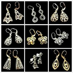Bulk Wholesale For Only $100 - Clothing, Jewelry, Home Decor, Handbags, Electronic Accessories and More - 900 Pairs of Yellow Gold & Silver Plated Earrings, Assorted Styles