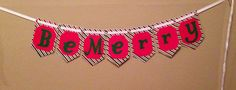 Christmas Banner Be Merry by BradyBanners on Etsy, $15.00