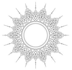 ornamental circle - /page_frames/old_ornate_borders/ornate_frames/ornamental_circle. Stencil Patterns, Pattern Art, Stencil Designs, Zentangle Patterns, Islamic Art Pattern, Arabesque Pattern, Islamic Art Calligraphy, Calligraphy Borders, Calligraphy Alphabet