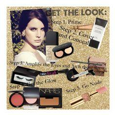 """Lana Del Rey Makeup Look"" by cloudiaaa ❤ liked on Polyvore featuring beauty, NARS Cosmetics, Bobbi Brown Cosmetics, tarte, shu uemura, Illamasqua, Laura Mercier, Stila, Yves Saint Laurent and Urban Decay"