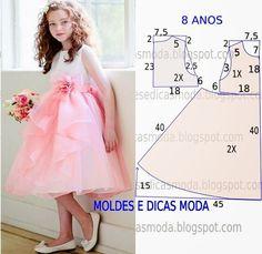 KIDS MOLDE VESTIDO - 13 ~ Plantillas Moda por la Medida