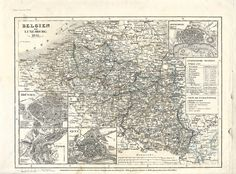 1841 Map of Belgium and Luxemborg from a Maps Ephemera Grab Bag.  (Maps Ephemera Grab Bags available at http://www.uncannyartist.com/products/maps-ephemera)