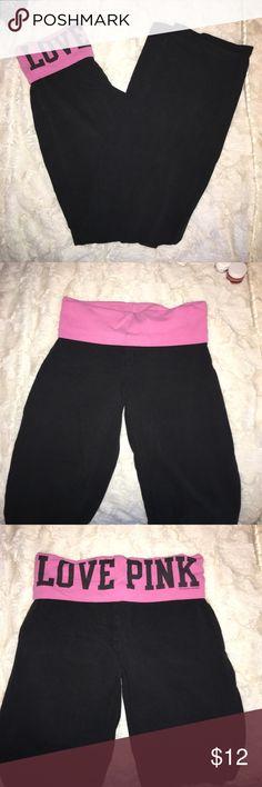 VICTORIA SECRET FLARE LEGGINGS great condition PINK Victoria's Secret Pants