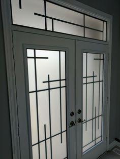 Window Grill Design Modern, Door And Window Design, Balcony Grill Design, Grill Door Design, Door Gate Design, 3 Storey House Design, Stair Railing Design, Pooja Room Door Design, Double Entry Doors