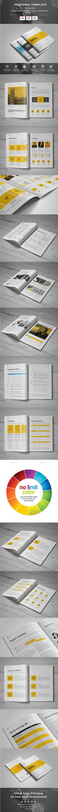 175 Best Proposal Design Images On Pinterest In 2018 Brochure