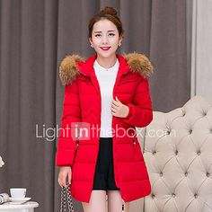 Hot! S-4XL Plus Size Winter Women Parka Outerwear Duck Down Jacket With Large Fur Collar Plus Thickening Long Coat down jacket for girl 2017 - $31.99