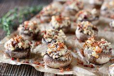 Bacon and Cream Cheese Stuffed Mushrooms... need I say more?