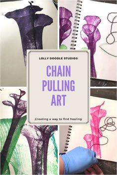 Learn to do chain pulling art! It is so relaxing and satisfying to create! Full list of supplies also included