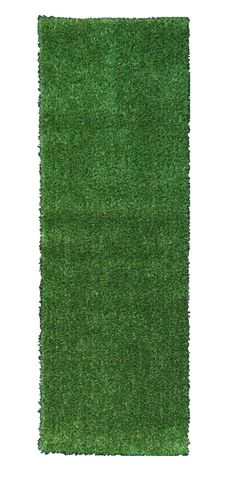 Ottomanson Evergreen Collection Indoor/Outdoor Green Artificial Grass Turf Solid Design Runner Rug, x Product Size: Color: Green Rubber backed with drainage hole Use virtually anywhere, indoors or out Safe for pets and children's playground Artificial Grass Balcony, Artificial Grass For Dogs, Artificial Turf, Fake Grass, Fake Turf, Grass Stains, Small Backyard Patio, Backyard Landscaping, Green Carpet