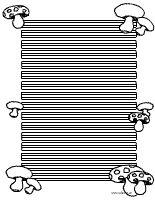 Pilze Briefpapier