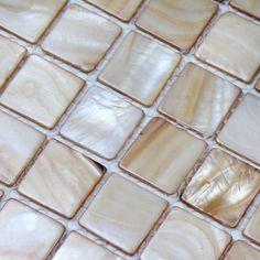 Online Buy Gorgous Mother of pearl tiles at OFF for kitchen backsplash & bathroom wall remolding. Mother of pearl tile, it is called shell tile, pearl shell tile, shell mosaic, mother of pearl mosaic. Mother of pearl tiles are natural green product. Bathroom Tiles Pictures, Bathroom Ideas, New Kitchen Interior, Green Countertops, Mosaic Tiles, Mosaics, Stone Mosaic, Mosaic Art, Backsplash Cheap