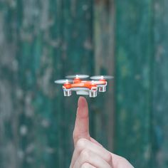 The Nano is a tiny toy drone small enough to fit in the palm of your hands. It is remote control and just 4x4 centimeters but still packs huge amounts of fun.