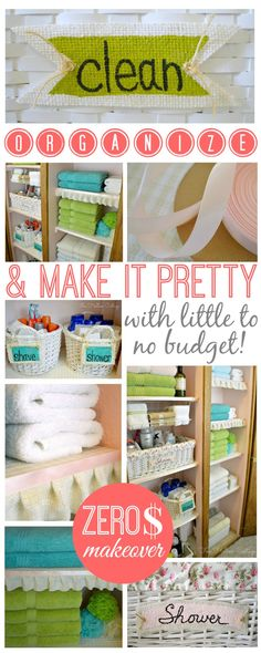 Linen Closet Clean Organize Makeover - Zero Budget ff6666