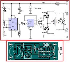 How To Make 12v DC to 220v AC Converter/Inverter Circuit ...