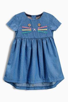 Buy Next Denim Character Detail Dress (3mths-6yrs) online | Shop The Brand Store