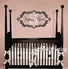 Monogram Decal Baby Nursery Wall Decals Teen Girl Monogram - Monogram wall decals for nursery