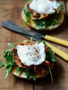 Toasted Breakfast Bagel Sandwich