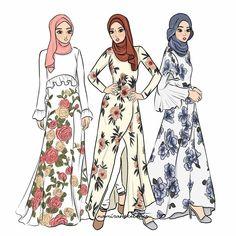 Namirah sketch Dress Design Sketches, Fashion Design Drawings, Fashion Sketches, Fashion Drawing Dresses, Fashion Illustration Dresses, Niqab Fashion, Muslim Fashion, Fashion Wallpaper, Fashion Figures