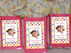 Dora and Boots Party Favor Tag DIGITAL FILE by SimplyCreateDesigns, $5.75