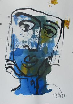 wild girl Portrait  Original Zeichnung auf Künstlerpapier
