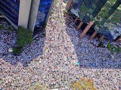 18F-1 Venezuela protesta pacificamente en contra de la violencia del régimen.