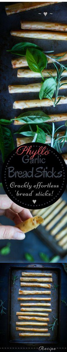 How to make Phyllo Garlic Bread Sticks