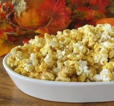 "Autumn Pumpkin Popcorn: ""The ratio of pumpkin pie spice and sugar was perfect. It tastes like kettle corn with a twist."" -Calee"