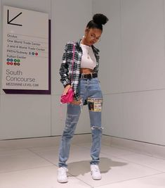 streetwear fashion Shelly B. Links on Ins - fashion Tomboy Outfits, Chill Outfits, Swag Outfits, Dope Outfits, Retro Outfits, Vintage Outfits, Fashion Outfits, Tomboy Fashion, 90s Hip Hop Outfits
