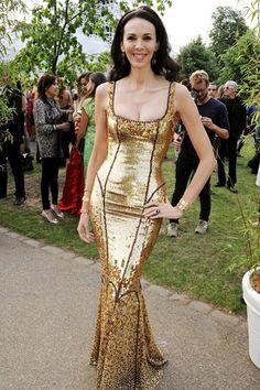 L'Wren wearing her own design