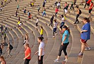Every Wed. at 6:30 a.m. 400 people meet at this Harvard Stadium in Boston to run these steps!