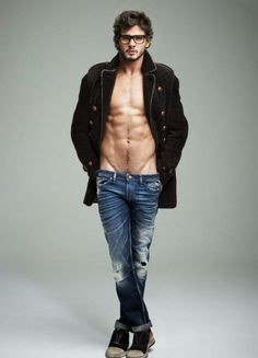 Don't know who he is but bless whoever made those low rise jeans ~ Marlon Teixeira