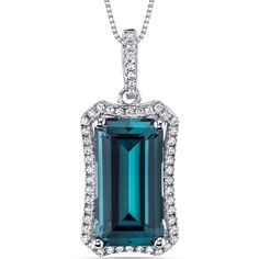 MSRP: $429.99  Our Price: $169.99  Savings: $260.00    Item Number: SP10994    Availability: Usually Ships in 5 Business Days    PRODUCT DESCRIPTION:    This beautiful pendant for her features exceptional design, craftsmanship and finishing. A brilliant halo perfectly frames a Lab Created Emerald Cut Alexandrite with a Ocean Teal hue, and is surrounded by super sparkling white cubic zirconia.    A perfect gift for Mothers Day, Birthdays, Valentines Day, Graduation, Christmas or just about…