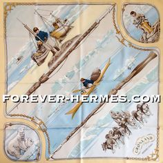 North Pole dream? In our store now! http://forever-hermes.com #ForeverHermes is this Hermes Paris couture silk scarf titled Grønland #Greenland designed by Philippe Ledoux featuring adorable Polar Bear Eskimo Inuit #Bear #Sled #SledDog #Kayak in the serene #Nordic landscape! For the #dapper #gentleman #dog #mensfashion #menswear #womensfashion #womenswear #HermesParis #Hermes