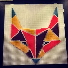 Tribal fox hama perler beads by aslaugsvava
