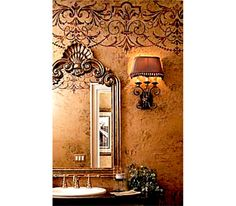Stencil Wall Damask Flower Pattern Wall Room Decor Made by OMG Stencils Home Improvements Color Paintings 0115